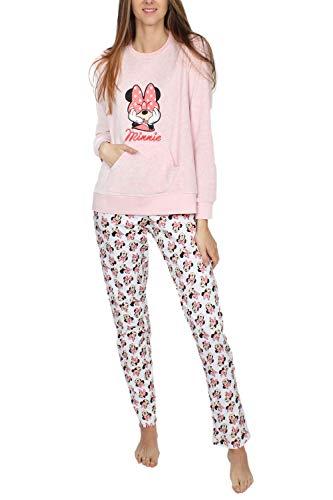 Disney Minnie Bow Schlafanzug für Damen, 54308-0, Gelb, 54308-0 XL