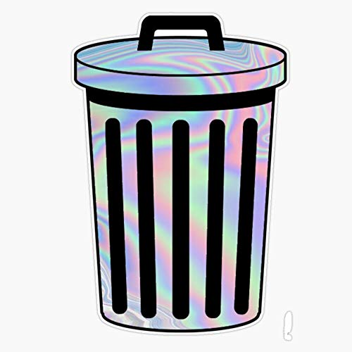 Holographic Trash Can Vinyl Waterproof Sticker Decal Car Laptop Wall Window Bumper Sticker 5""