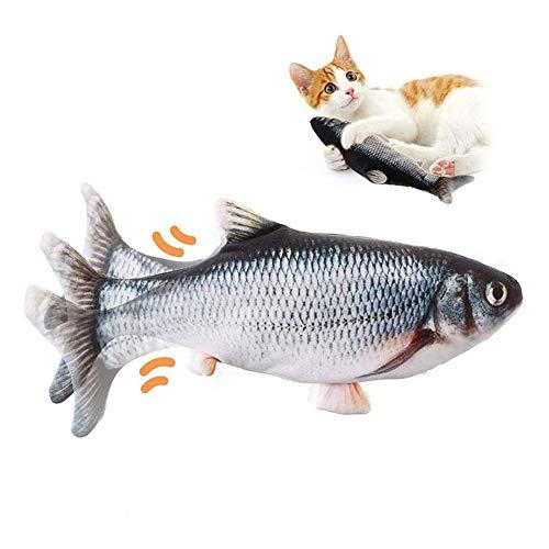Juguetes De Pez Con Hierba Gatera Para Gatos, Pez De Juguete Para Gatos, Juguetes Divertidos Con Peces, Almohada Interactiva Para Mascotas/Pez Flotante De Gatito, Carga Usb