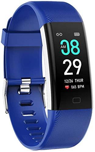 hwbq Reloj inteligente deportivo pulsera inteligente impermeable GPS frecuencia cardíaca Wechat reloj azul