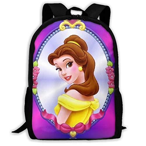 Belle Kids Backpack Shoulder Bag Bookbag Children's Backpack Boys Printed Daypack for Women Men,Size 43X28X16Cm