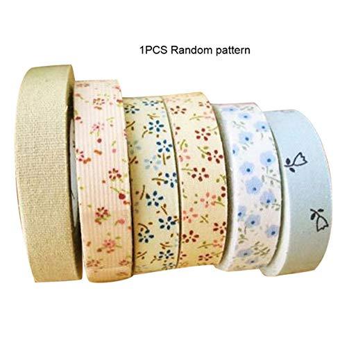 MXECO Impresión floral Planchado de un solo pliegue Cinta de sesgo de algodón Bies Encuadernación para mantel Edredón de ropa Costura artesanal
