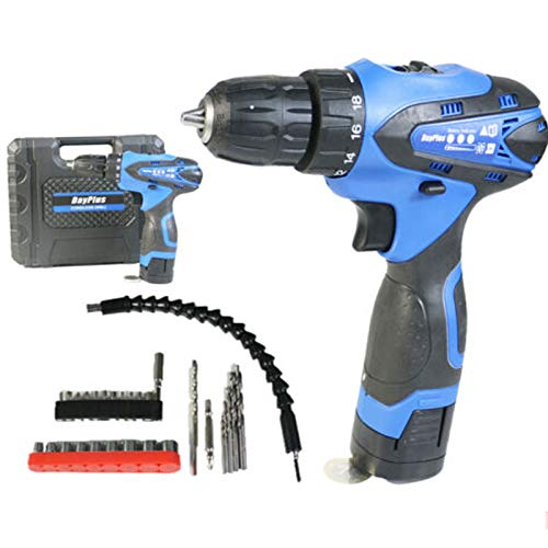 Cordless Drill Kit 16.8V 35N.m,Compact Electric Drill Cordless Drill Driver,Built-in LED,18+1 Torque Setting,with Fast Charger/Carrying Case