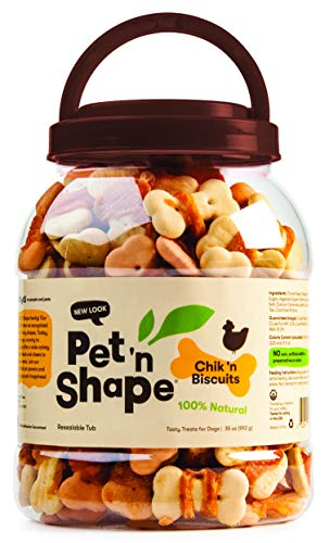 Pet 'n Shape Chik 'n Biscuits - All Natural Dog Treats, 2.21 Lb