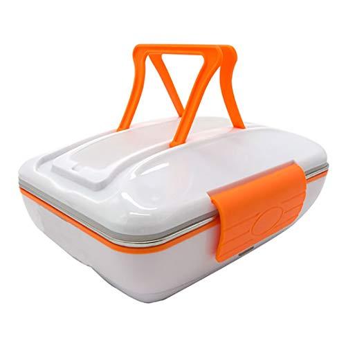 BR&Lunch 220V eléctrico climatizada Caja Almuerzo portátil Acero Inoxidable Bento Box Meal cálido envase alimento Lunchbox Orange