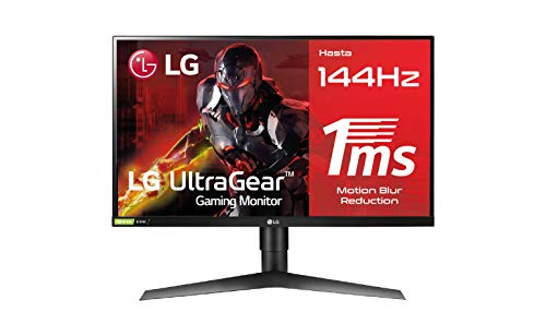 LG 27GL650F-B - Monitor Gaming FHD de 69 cm (27') con Panel IPS (1920 x 1080 píxeles, 16:9, 1 ms con MBR, 144Hz, FreeSync 2,...