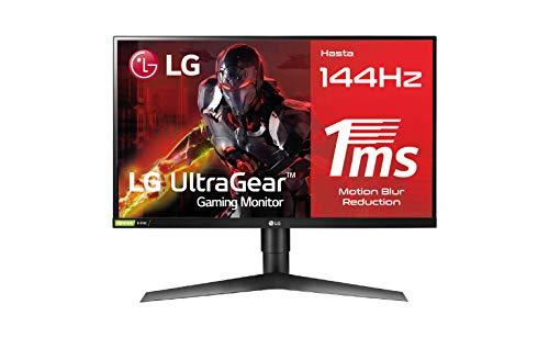 "LG 27GL650F-B - Monitor Gaming FHD de 69 cm (27"") con Panel IPS (1920 x 1080 píxeles, 16:9, 1 ms con MBR, 144Hz, FreeSync 2, 400 cd/m², 1000:1, sRGB >99%, DP x1, HDMI x2), Color Negro"