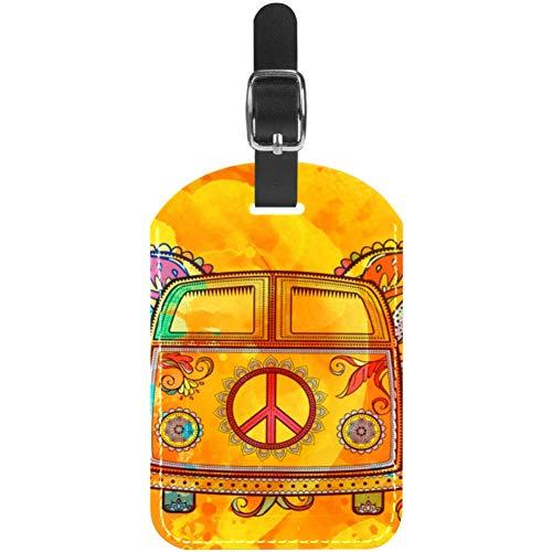 Gepäckanhänger Hippie Vintage Bus Leder Reise Koffer Etiketten 1 Packung