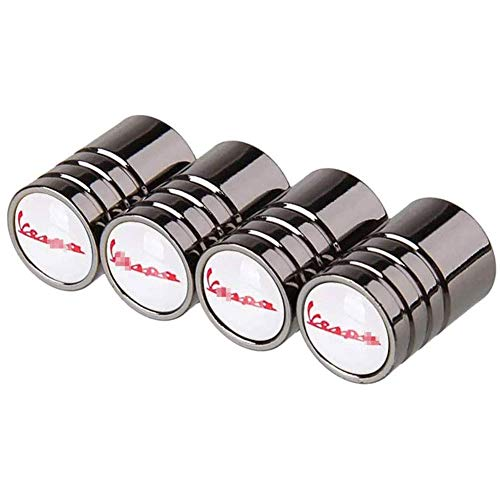 4pcs Tapas para válvulas Tapones de válvula de neumático de automóvil, Ruedas Cubierta de polvo Tapas de aire de vástago de neumático Cubiertas herméticas, para Vespa Piaggio Px 125 LX 50150 180ss