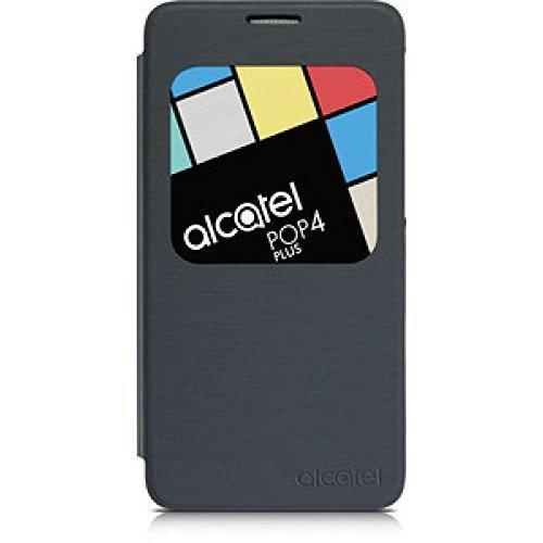 Alcatel Aero flip Case, Funda para Alcatel Pop 4 Plus, Negro (Volcano black)