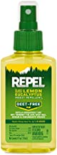 REPEL Plant-Based Lemon Eucalyptus Insect Repellent, Pump Spray, 4-Ounce