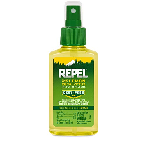 Repel 94109 HG-94109 Lemon Eucalyptus Natural Insect, 4-Ounce Pump Spray, 1 pack, Black