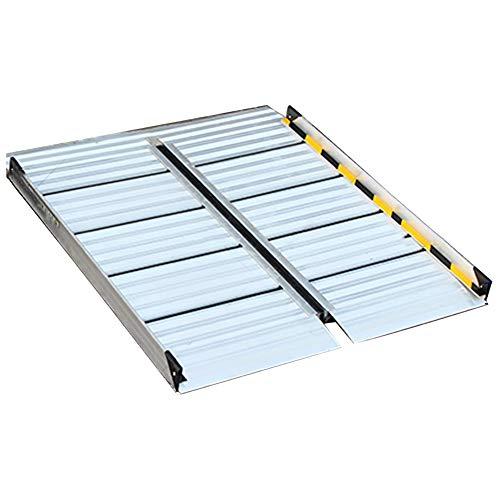 CQILONG Rampa De Umbral, Aleación De Aluminio Antideslizante Estilos Plegables Y No...