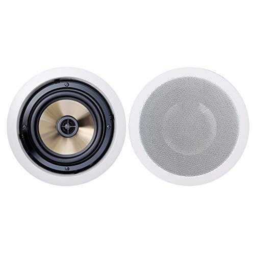 BIC America FH-6C Formula Series FH-6C 6-1/2 Inch 150-Watt 2-Way in-Ceiling Speakers with Pivoting Horn Tweeters