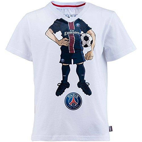 Paris Saint-Germain T-Shirt, Cartoon, offizielle Kollektion, Kindergröße für Jungen 10 Jahre weiß