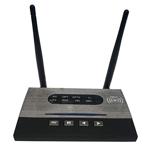 Guangcailun NFC 80m de largo alcance Bluetooth 5.0 Transmisor Receptor de baja latencia HD Spdif RCA AUX de 3,5 mm o adaptador de Música