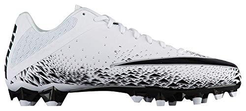 NIKE Men's Vapor Speed 2 TD Football Cleats (13, White/Black)