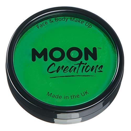 Moon Creations - Peinture Professionnelle pour Visage activée à l'eau - Vert Brillante