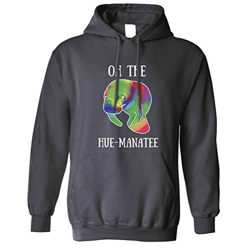 Tim and Ted nouveauté Pun Sweat à Capuche Oh L'humanité Hue-Manatee Charcoal Medium