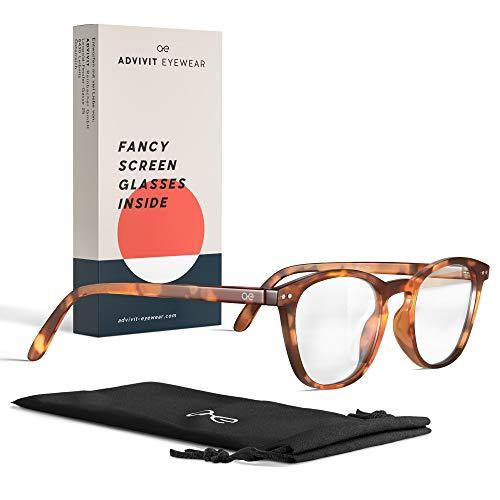ADVIVIT Occhiali protezione dalla luce blu Eyewear Originali | occiali anti luce blu non graduati uomo donna| Occhiali da vista per la protezione dallo schermo del computer - antistress homeoffice