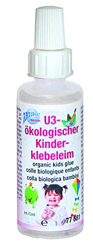 CREARTEC Ökologischer Kinderklebeleim - dickflüssiger Klebeleim - 70g - Made in Germany