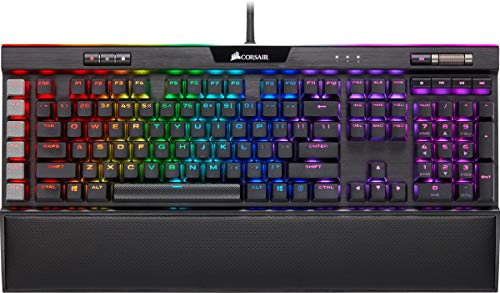 Corsair K95 RGB Platinum XT Mechanical Gaming Keyboard, Backlit RGB LED, Cherry MX Speed RGB Silver, Black (CH-9127414-NA)