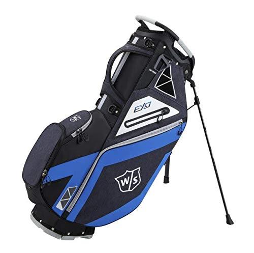 Wilson Staff Sac de golf, EXO Stand Bag, Noir/Bleu/Blanc,...