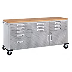 2-door cabinet with full-width shelf and 4 adjustable height positions. 11 lined drawers ULTRAGUARD™ fingerprint-resistant stainless-steel cabinet doors and drawer fronts All storage compartments are fully lockable Stainless-steel push bar on each si...