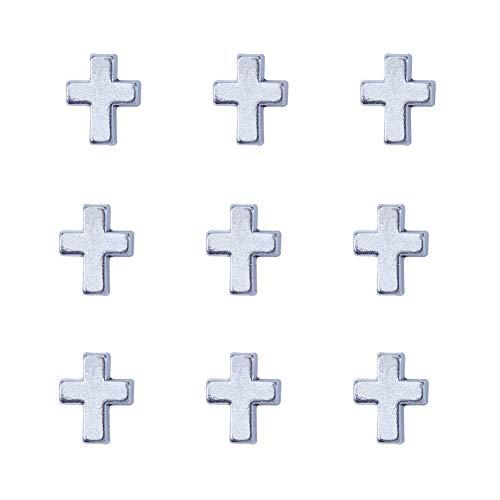 NBEADS Colgantes de la Cruz, 30pcs Estilo Tibetano Antiguo Plata Cruz Espaciador Cuentas Colgantes Encantos para Hacer Joyas de Bricolaje, Agujero: 2 mm