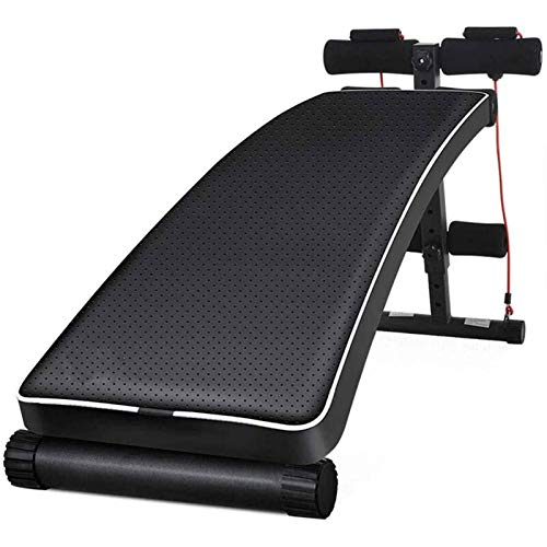 HHTD Banco ajustable en forma de arco para sentarse, banco de ejercicios, plegable, capacidad de transporte multiusos de 550 libras, color negro, para entrenar en casa