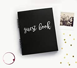 130 Black Pgs Rose Gold Party Decorations Guest Book 1st Birthday BK Sweet 16 Guest Book Quincenera Party Birthday Guestbook 50th 8.5x7 Birthday Party Guest Book Guest Book Polaroid