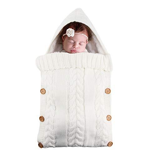 Bebé recién nacido Swaddle Blanket Wrap Sacos de dormir, manta de lana suave y cálida Se puede usar para cochecitos, automóviles, camas u otros para mantener al bebé caliente en climas fríos.