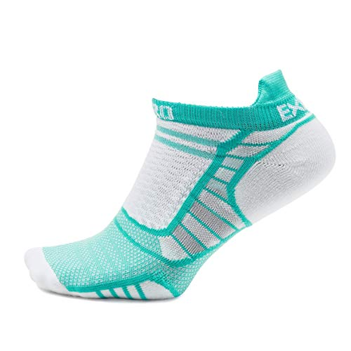 Thorlos Experia Damen Experia ProLite Thin Padded No Show Tab Running Socks Laufshorts, spearmint, Small