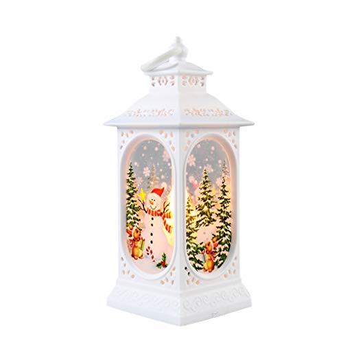 Geilisungren Weihnachten Mini Laterne LED Leuchtende Kreative Dekoration, Weihnachtsmann Elch Schneemann Dekorative Tragbare Hängende Laterne, Weihnachtsferien Home Party Dekor Geschenk