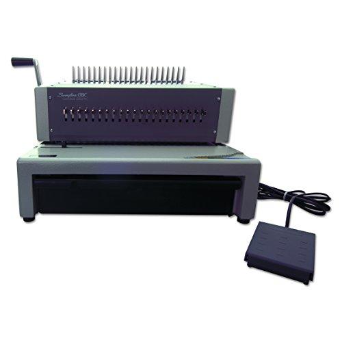 GBC Binding Machine Electric Binds 500 Sheets Punches 25 Sheets CombBind C800PRO 27170Gray
