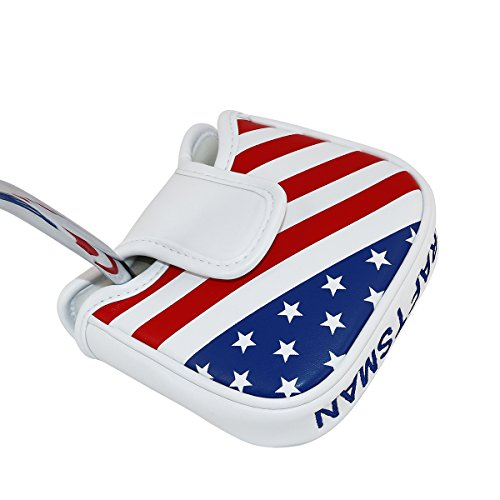 Craftsman Golf Stars and Stripes USA America Square Heel Shafted Mallet Putter Cover Headcover for Taylormade Golf 2017 Spider Tour Putter,Scotty Cameron Odyssey 2Ball