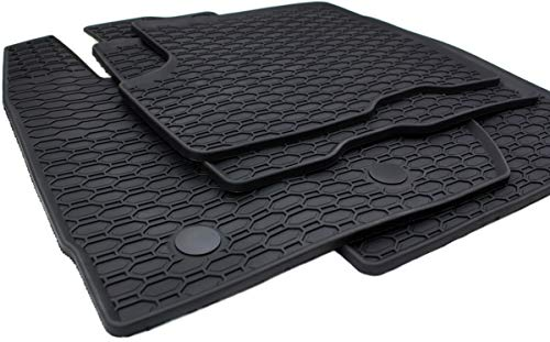 kfzpremiumteile24 Gummimatten für Duster 2010-2018 Premium Qualität Fußmatten Gummi schwarz 4-teilig