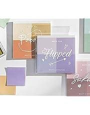 ANPHSIN 4色メモ帳-4點セット 4種類 カラフル 粘著性なし メッセージ ふせん ノート 手帳 メモ帳 伝言 時