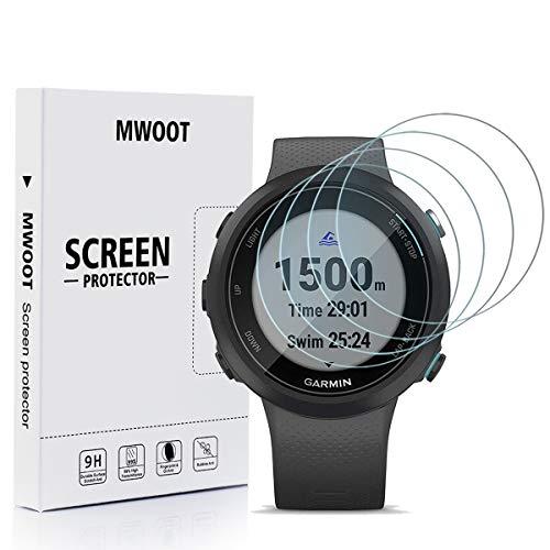 MWOOT Cristal Templado Compatible con Reloj Garmin Swim 2 (4 Unidades), Protector Pantalla Vidrio...