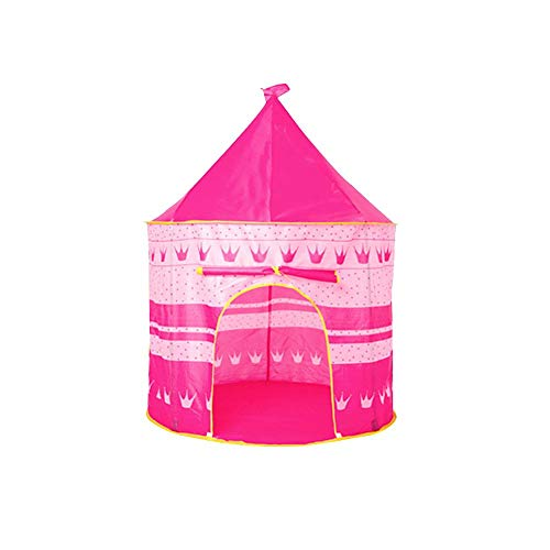 Euopat Princess Castle,Children Kids Wizard & Princess Castle Tent,Foldable Prince Pop Up Play Tent House Toy Outdoor Children Tent For Girls/Boys Indoor And Outdoor