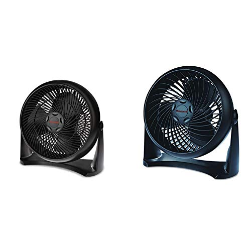 Honeywell HT-908 TurboForce Room Air Circulator Fan, Medium, Black & HT-900 TurboForce Air Circulator Fan Black,Small
