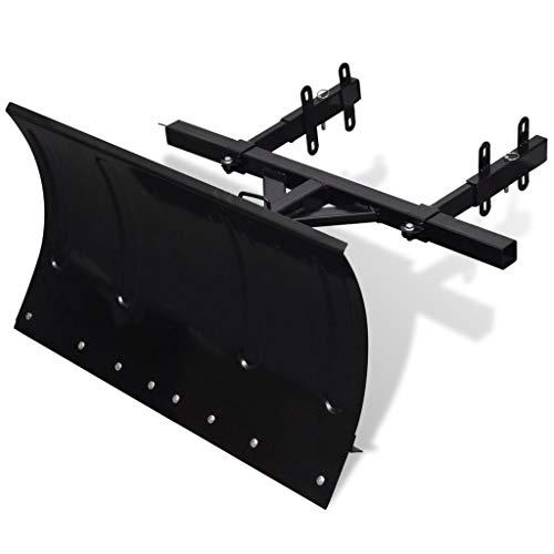 vidaXL Schneefräse Schneeschild bis zu 65 cm passend 5-fach verstellbar 80x44cm
