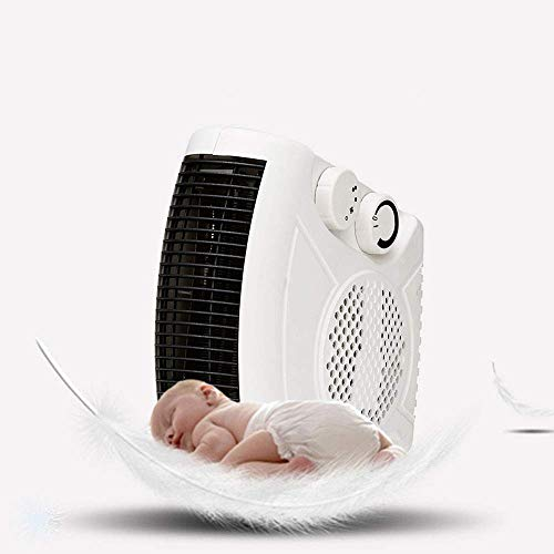 Pkfinrd Happy Klein Tower Space Heater 1450W elektrische kachel draagbare verwarming desktop huishouden fornuis koeler winterisolatiemachine, wit