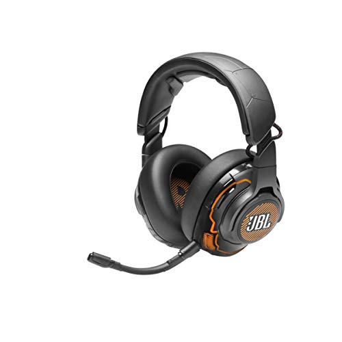 JBL Quantum ONE Cuffie Gaming Over-Ear con Cavo USB, Headset da Gioco con Microfono, Sensore di Movimento della Testa e Surround, Compatibilità Multipiattaforma PC e Console, Nero