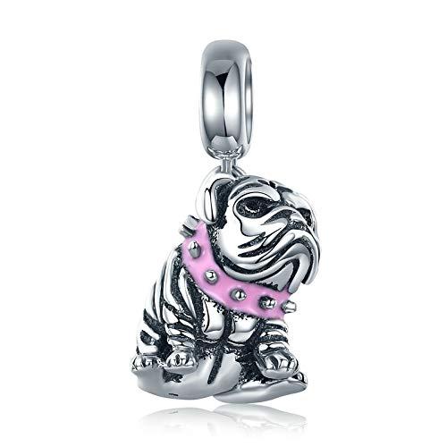 Zxxxuun Authentische 925 Sterling Silber süße englische Bulldogge Hund Charm Perlen passen Original Charm Armband DIY Schmuckherstellung