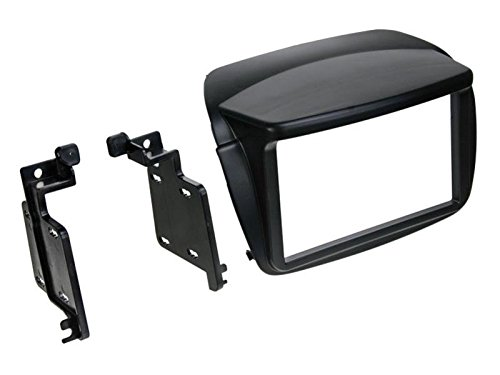 Set di montaggio autoradio 2 DIN con mascherina e cavo di collegamento radio, adattatore antenna, set completo per Fiat Doblo 263 2010-2014, nero