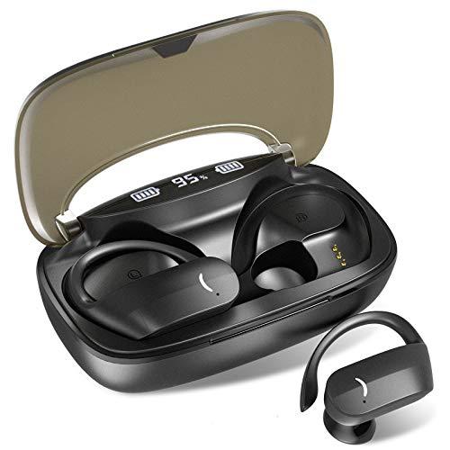 Auriculares Bluetooth, Byroras Auriculares Inalámbricos Bluetooth 5.0 TWS Deportivos Auriculares, Micrófono Incorporado, Control Táctil,con Caja de Carga Reproducción de 200 Horas【Actualización 2021】
