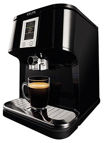 Krups EA850B - Cafetera (Independiente, Negro, Espresso machine, Granos de café, Capuchino, Café expreso, Latte macchiato,...