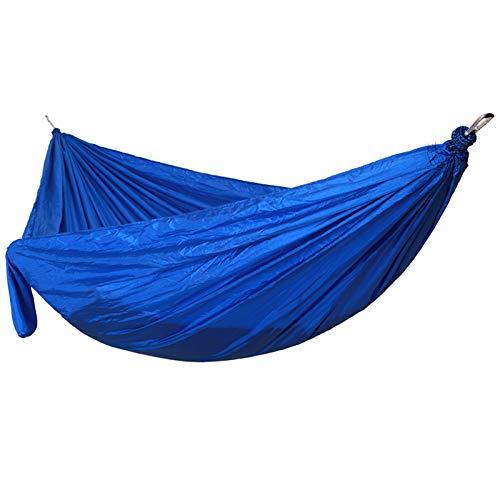 LJYTWPZYS Hamaca de camping al aire libre, doble y individual cama portátil tienda columpio, ocio interior al aire libre senderismo equipo de viaje, tela de paracaídas de nylon