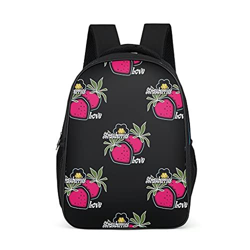 Mochila escolar para niños pequeños, con frutas y fresas, con compartimento para portátil
